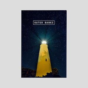 Ocracoke Light. Rectangle Magnet
