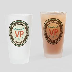 VP Vice President Vintage Drinking Glass
