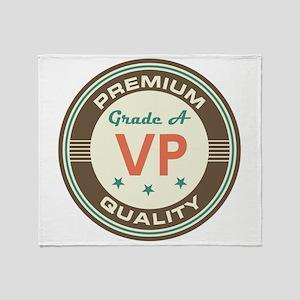 VP Vice President Vintage Throw Blanket