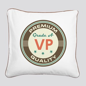VP Vice President Vintage Square Canvas Pillow