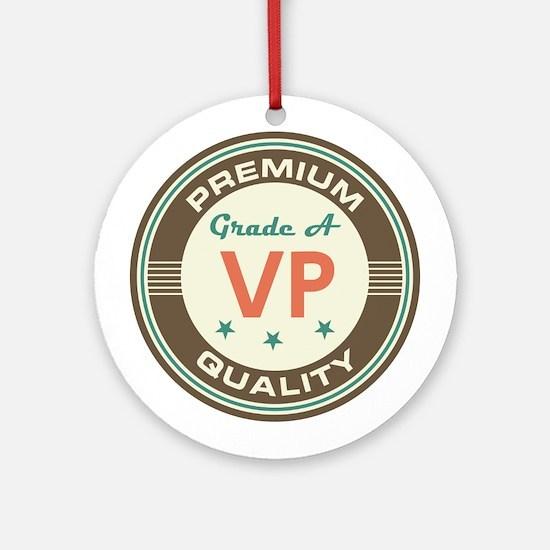 VP Vice President Vintage Ornament (Round)