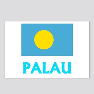 Palau Flag Classic Blue D Postcards (Package of 8)