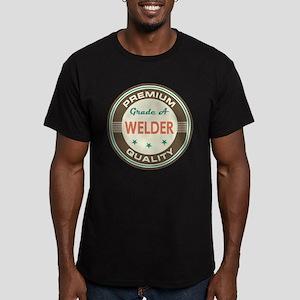 Welder Vintage Men's Fitted T-Shirt (dark)