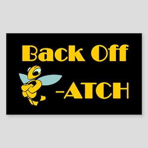 Back Off Biatch Bee Rectangle Sticker