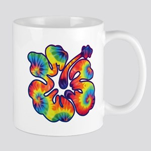 hibiscus tie dye 1 Mugs
