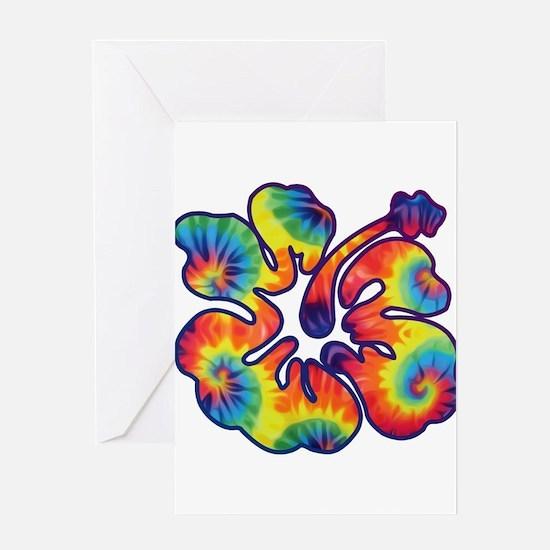 hibiscus tie dye 1 Greeting Cards