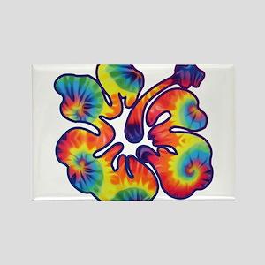 hibiscus tie dye 1 Magnets