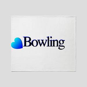 Heart Bowling Throw Blanket