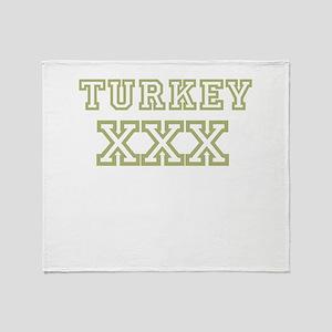 Turkey XXX Throw Blanket