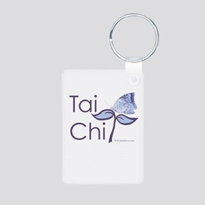 Tai Chi Butterfly 2 Aluminum Photo Keychain
