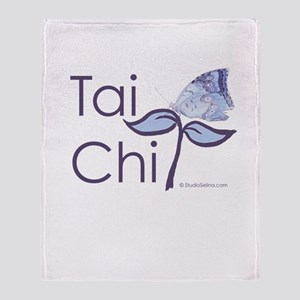 Tai Chi Butterfly 2 Throw Blanket