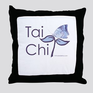 Tai Chi Butterfly 2 Throw Pillow