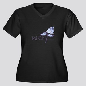 Tai Chi Butt Women's Plus Size V-Neck Dark T-Shirt