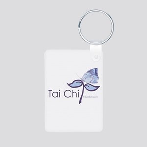 Tai Chi Butterfly Aluminum Photo Keychain