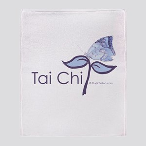 Tai Chi Butterfly Throw Blanket