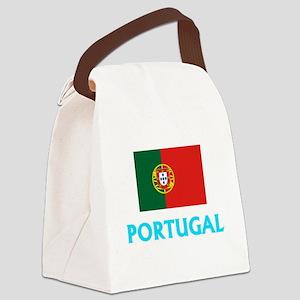 Portugal Flag Classic Blue Design Canvas Lunch Bag