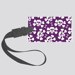 Halloween Skull Pattern Large Luggage Tag