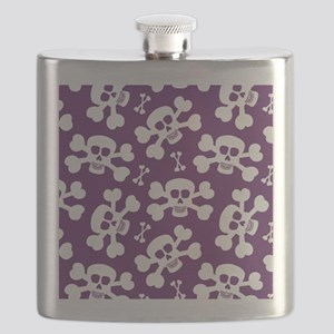 Halloween Skull Pattern Flask