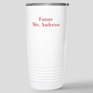 Future Mrs Anderson-bod red Travel Mug