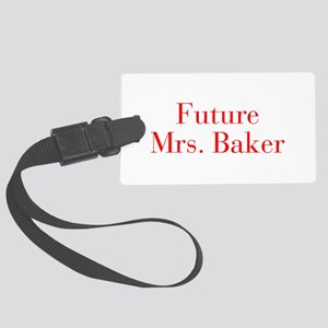 Future Mrs Baker-bod red Luggage Tag