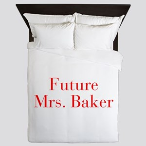 Future Mrs Baker-bod red Queen Duvet