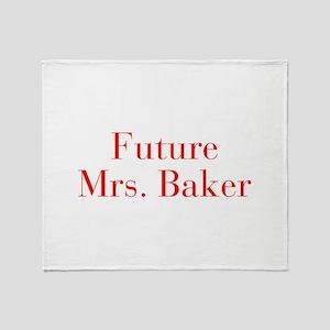 Future Mrs Baker-bod red Throw Blanket