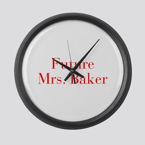 Future Mrs Baker-bod red Large Wall Clock