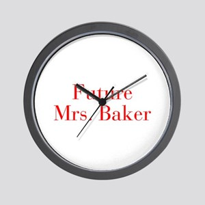 Future Mrs Baker-bod red Wall Clock