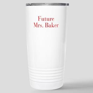 Future Mrs Baker-bod red Travel Mug