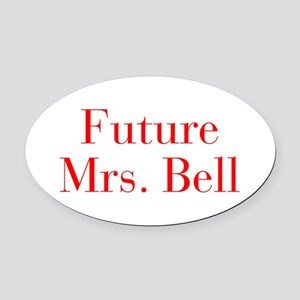Future Mrs Bell-bod red Oval Car Magnet
