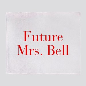 Future Mrs Bell-bod red Throw Blanket