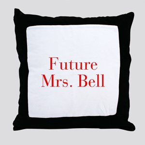 Future Mrs Bell-bod red Throw Pillow