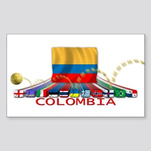Colombia Rectangle Sticker