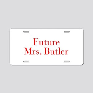 Future Mrs Butler-bod red Aluminum License Plate