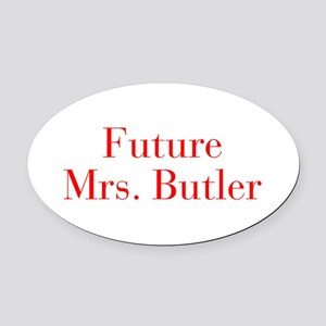 Future Mrs Butler-bod red Oval Car Magnet