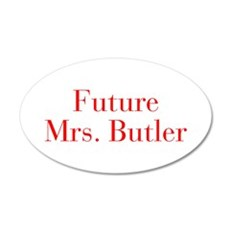 Future Mrs Butler-bod red Wall Decal