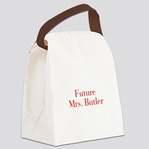 Future Mrs Butler-bod red Canvas Lunch Bag