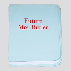 Future Mrs Butler-bod red baby blanket