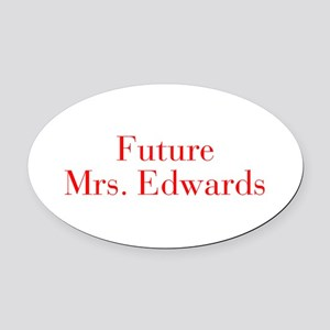 Future Mrs Edwards-bod red Oval Car Magnet