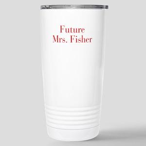 Future Mrs Fisher-bod red Travel Mug