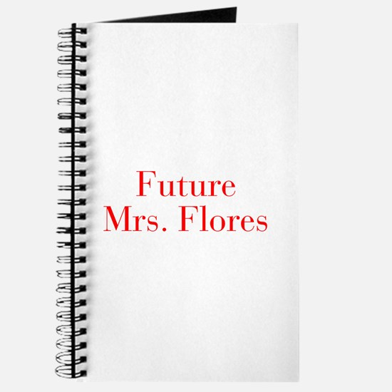 Future Mrs Flores-bod red Journal