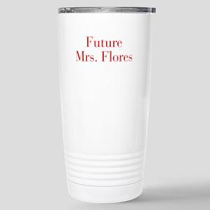 Future Mrs Flores-bod red Travel Mug
