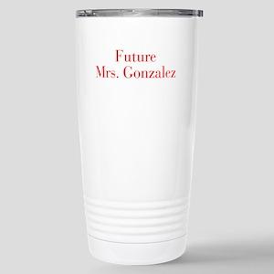 Future Mrs Gonzalez-bod red Travel Mug