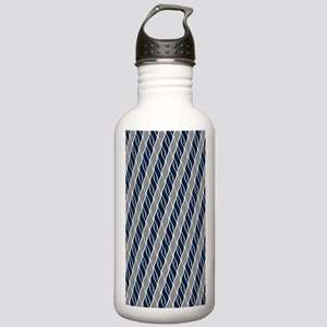 Gray and Blue Stainless Water Bottle 1.0L