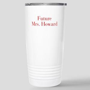 Future Mrs Howard-bod red Travel Mug