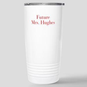 Future Mrs Hughes-bod red Travel Mug