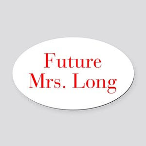 Future Mrs Long-bod red Oval Car Magnet