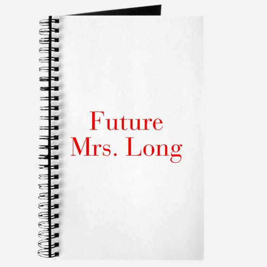 Future Mrs Long-bod red Journal