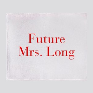 Future Mrs Long-bod red Throw Blanket