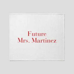 Future Mrs Martinez-bod red Throw Blanket